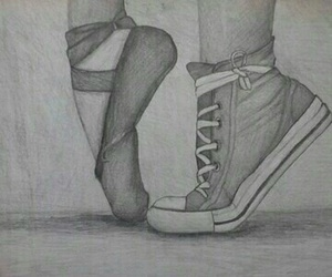 drawing, shoes, and sides image