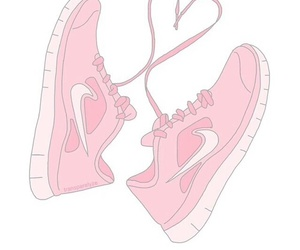 nike, overlay, and pink image