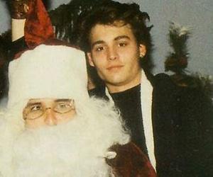 johnny depp, christmas, and santa image