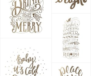 christmas and lettering image