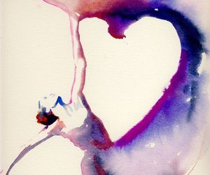 art, dancer, and heart image