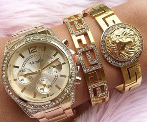 gold and watch image