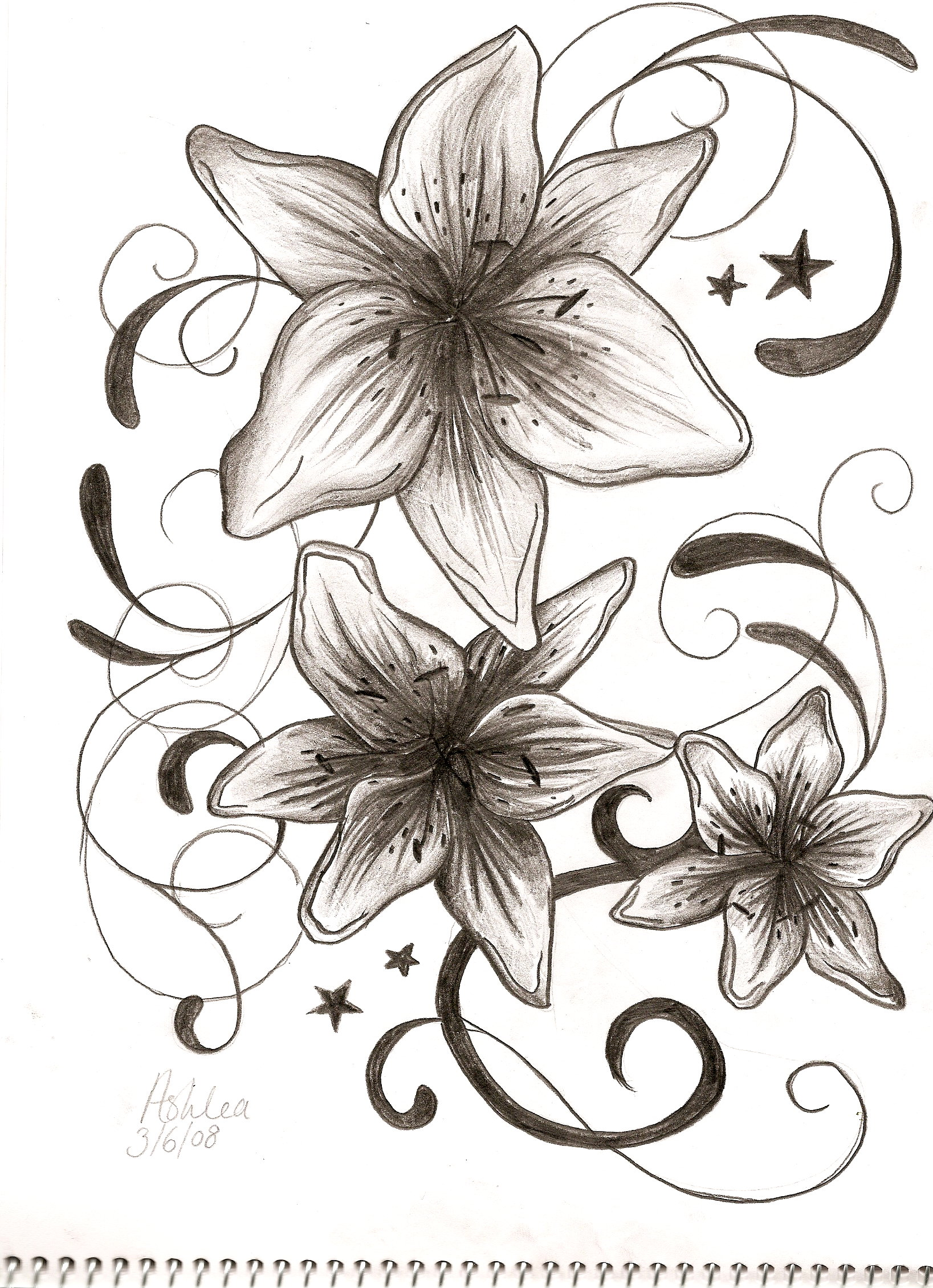 Anchor With Stargazer Lily Tattoos T Stargazer Tattoo And