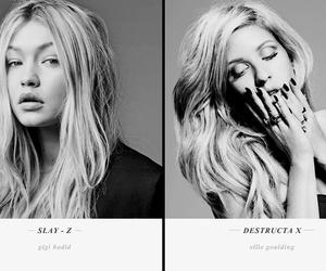 Ellie Goulding, gigi hadid, and haïr image