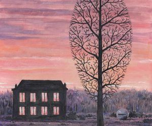 art, colours, and magritte image
