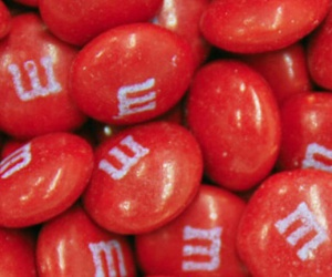 m&m, red, and chocolate image