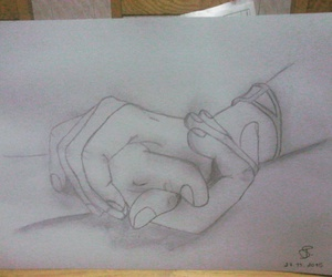 drawings, draws, and hands image