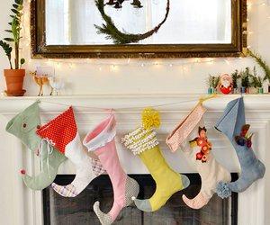 christmas and christmas stockings image
