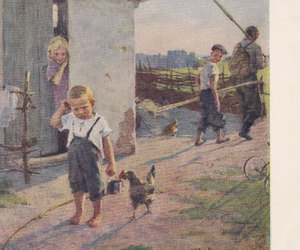 adorable, vintage postcards, and old postcards image