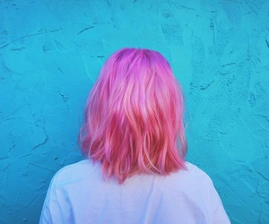 pink and hair image