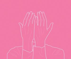 pink, drawing, and grunge image