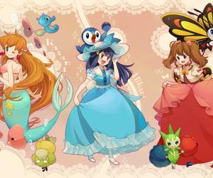 pokemon and anime girls image