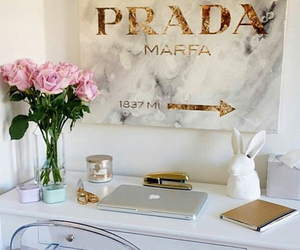 Prada, flowers, and gold image