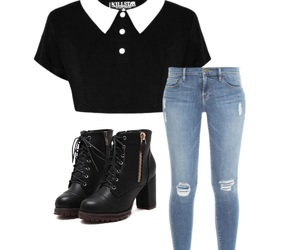 black, crop, and fashion image