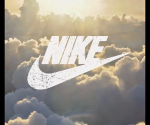nike, clouds, and sky image