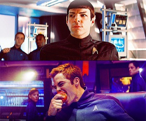 chris pine, star trek, and zachary quinto image