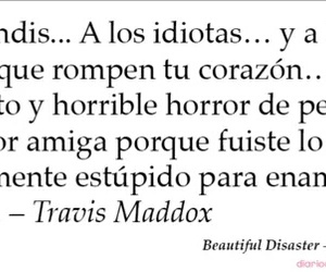 beautiful disaster, travis maddox, and book image