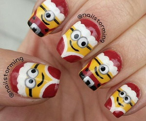 nails, minions, and christmas image