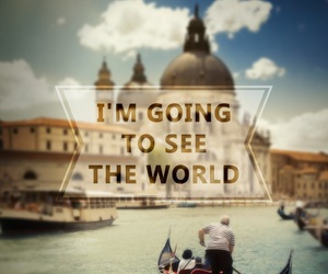 sprüche and im going to see the world image