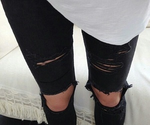 black, jeans, and is my colour image