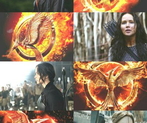 the hunger games, katniss, and mockingjay image