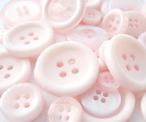 buttons, pink, and pastel image
