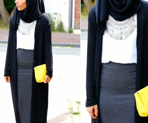 hijab, outfit, and ootd image