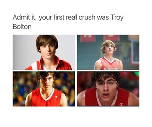 crush, true, and troy bolton image