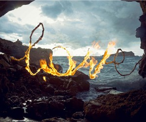 love, fire, and sea image