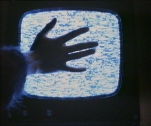 grunge, tv, and hand image