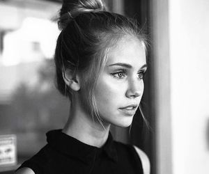 girl, beauty, and black and white image