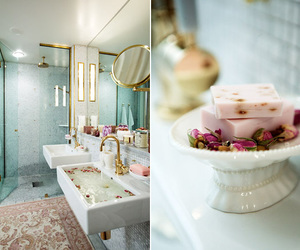 bathroom, chic, and french image