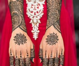 henna, india, and tattoo image