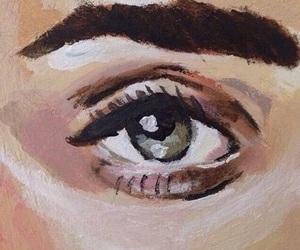 art, eye, and tan image