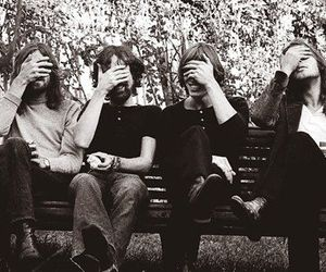 Pink Floyd, music, and black and white image