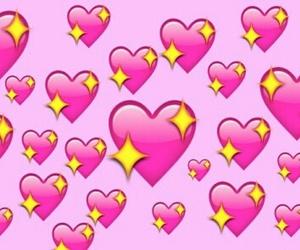 emoji, heart, and pink image