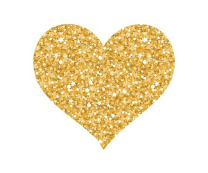 wallpaper, gold, and heart image
