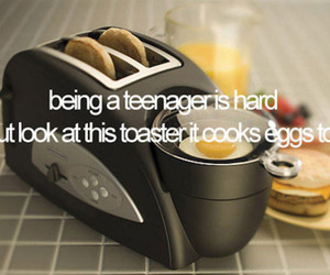 teenager, toaster, and funny image