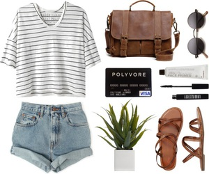 outfit, summer, and Polyvore image