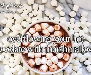 marshmallow and hot chocolate image