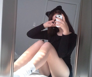black, pale, and tumblr girl image