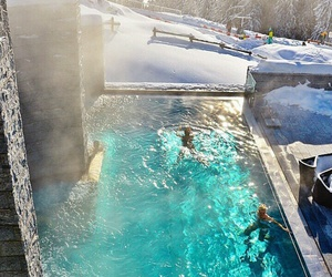 pool, winter, and snow image