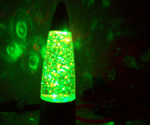 cool, green, and lamp image