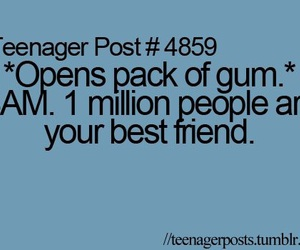 gum, funny, and teenager post image