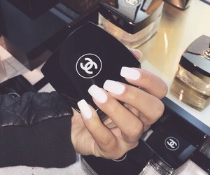 chanel, nails, and makeup image