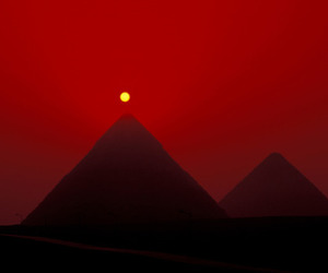 red, pyramid, and egypt image