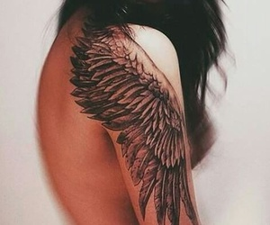art, tattoo, and wings image