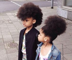 Afro, beautiful, and kids image