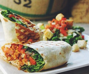 food, delicious, and wrap image