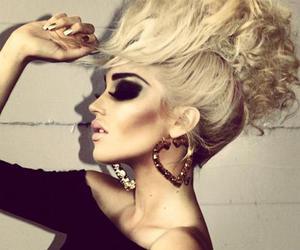 hair, blonde, and makeup image